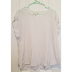 Forever21 plus white short sleeve top size 1x